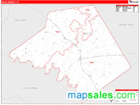 mills county texas map mills county tx zip code wall map line style by marketmaps