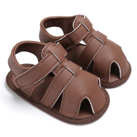 toddler sandals boys 0 18m toddler baby boys sandals soft soled pu leather