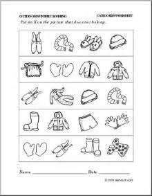 6 best images of winter wear worksheet preschool printable
