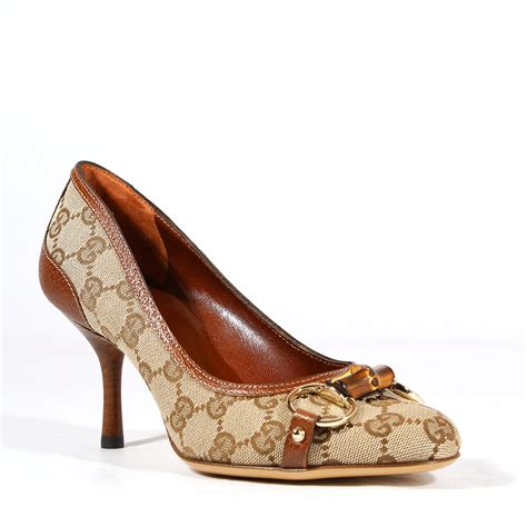 gucci sneakers for gucci shoes for brown gg fabric leather pumps