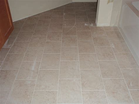 porcelain bathroom floor tile laying tile in a diamond pattern joy studio design