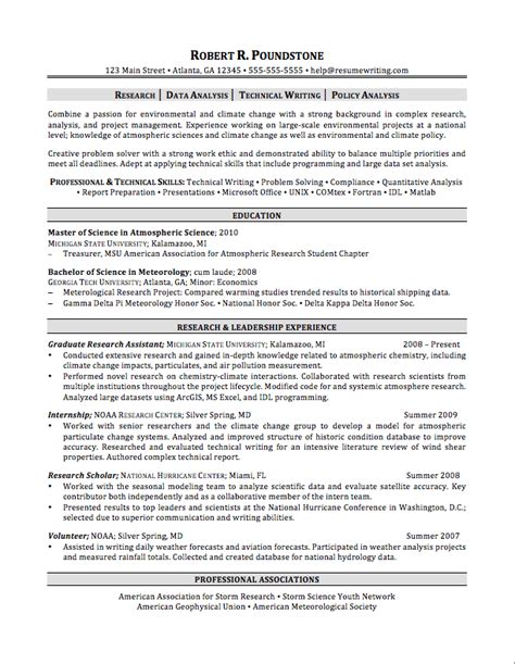 Resume Template For Graduate Students sle resumes resumewriting