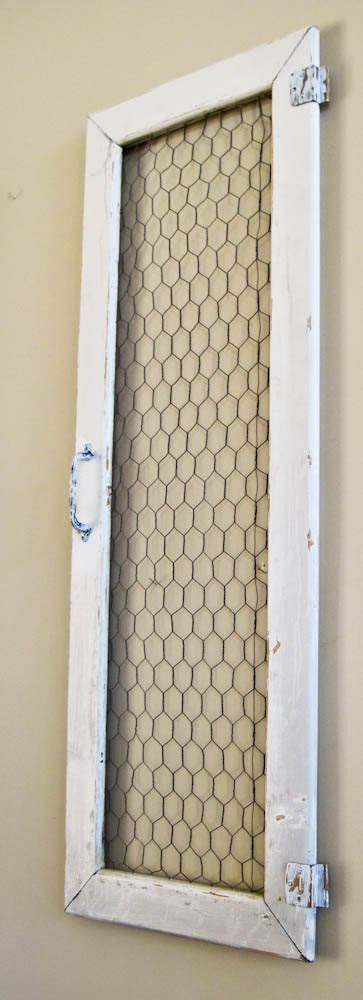 shabby chicken wire cabinet door wall hanging wall decor 13 x