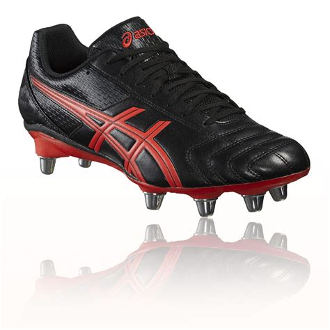 rugby shoes for asics lethal tackle mens black sports boots studs