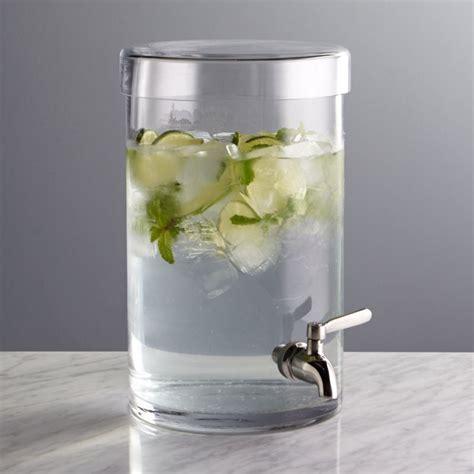 Glass Drink Dispenser   Crate and Barrel