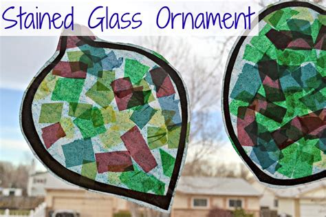 tissue paper crafts for preschoolers stained glass ornament preschool craft idea