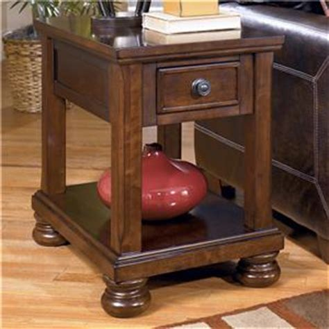 porter chairside end table signature design by porter storage cocktail table