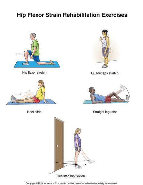 summit hip flexor strain exercises physical therapy exercises hip flexor