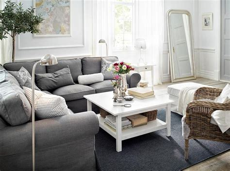 ektorp sofa grey ektorp corner sofa with svanby grey cover footstool with