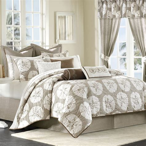 beach cottage bedding harbor house sand dollar comforter set bedding