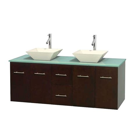 Green Vanity Top by Wyndham Collection Centra 60 In Vanity In Espresso