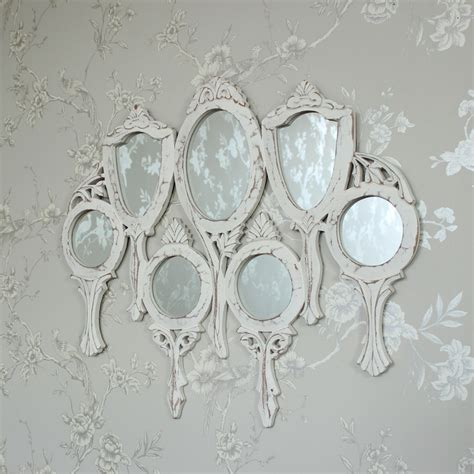 shabby chic bedroom mirrors white wooden vanity multi mirror shabby vintage chic