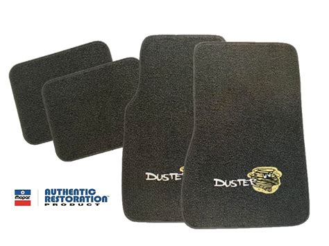 floors to go plymouth 1970 1976 plymouth duster 4 floor mats with logos