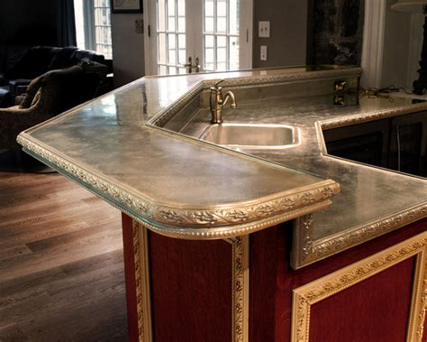 Pewter Countertops Cost by Cast Pewter Countertop Philadelphia Traditional