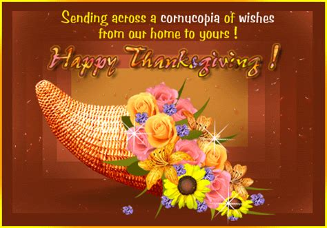 christian thanksgiving wishes sending across a cornucopia of wishes from our home to