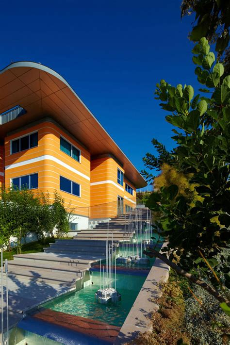 modern orange house  turkey idesignarch interior