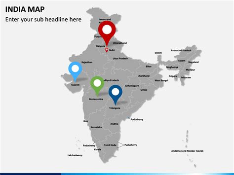 Editable India Map For Powerpoint Sketchbubble India Map Ppt