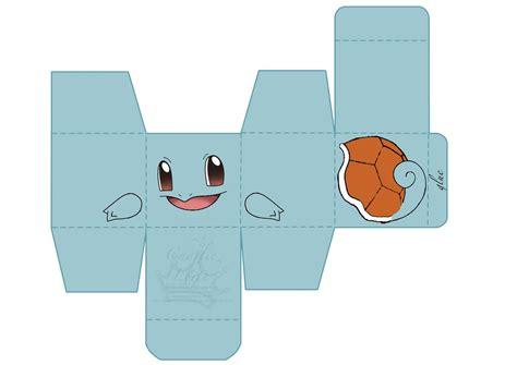 Squirtle Origami - papercraft squirtle by chaaa94 on deviantart