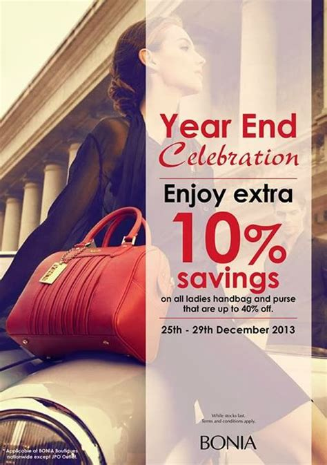 Bonia Toiletry A bonia year end celebration enjoy up to 40 additional 10 discover your
