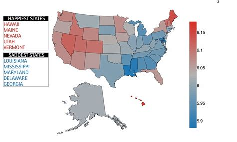 states ranked by happiness study of 10 million tweets reveals hawaii is the happiest