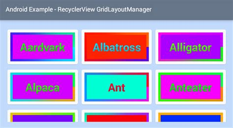 staggered layout manager android exle android recyclerview grid layout exle