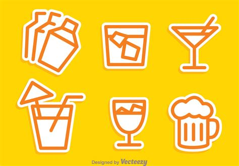 cocktail vector cocktail outline icons download free vector art stock