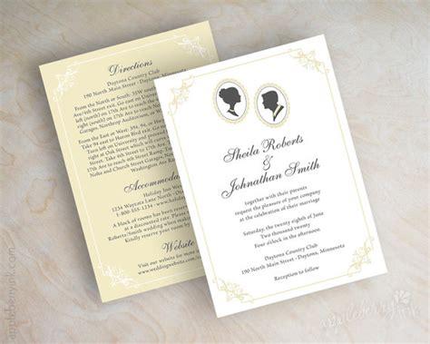 cameo wedding invitations silhouette wedding ideas 25 adorable finds emmaline