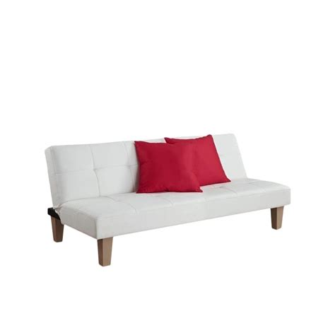 white convertible sofa faux leather convertible sofa in white 2011109
