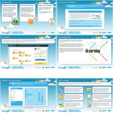 e learning html templates free the learning smith captivate 6 elearning template