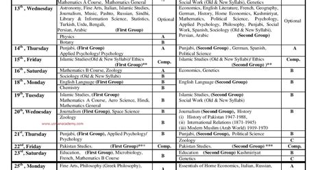 Mba Date Sheet 2014 Punjab by Pu Punjab Ba Bsc Date Sheet 2017 Roll Number
