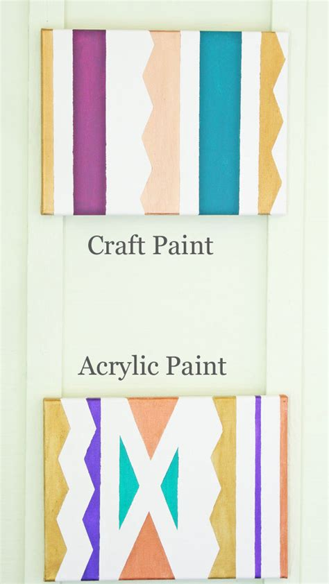 can i use craft acrylic paint on canvas what paint to use and when comparing craft and acrylic paint
