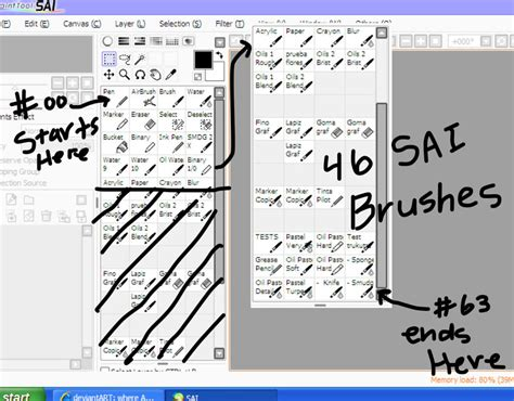 paint tool sai deviantart free sai brushes by celesoran on deviantart