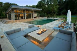 modern pools travertine patios and modern pool house vienna va