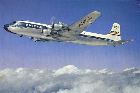 United Airlines Also Search For United Airlines Dc 7 Mainliner Airline History Non Twa