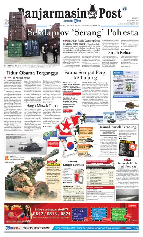 november 2010 posts ctodx banjarmasin post edisi kamis 25 november 2010 by