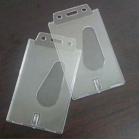Id Card Holder Id Card Cover Id Card Kulit Id Card Name Tag 196 1 pcs transparent clear vertical plastic badge holder card id credit holder 100x60x4mm