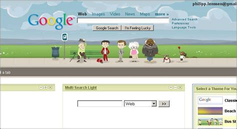 google homepage themes image search results google personalized homepage themes