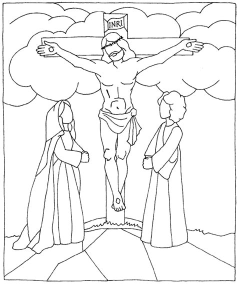coloring pages jesus crucifixion friday coloring