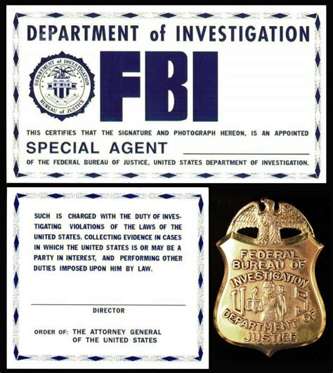 detective identification card template for f b i id from the x files template 1 by juan8t88 on
