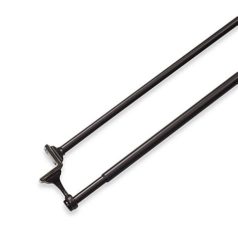 24 inch curtain rod umbra 174 mission bronze double drapery tension rod 24 inch