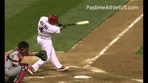 yadier molina swing yadier molina slow motion baseball swing home run hitting