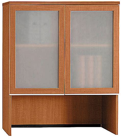 Cherry Bookcase With Glass Doors Bush Collection Bookcase Hutch With Glass Doors Golden Anigre Or Harvest Cherry 500 502