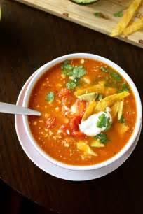 vegetarian tortilla soup soup warms and comforts pinterest