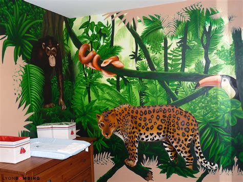 chambre jungle enfant chambre jungle