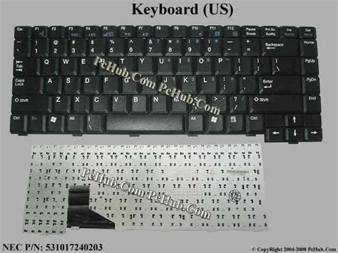 Keyboard Laptop Nec nec versa m400 keyboard 531017240203 zippy 3000170311