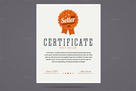 Top Seller Certificate Templates by Best Seller Certificate Illustrations On Creative Market