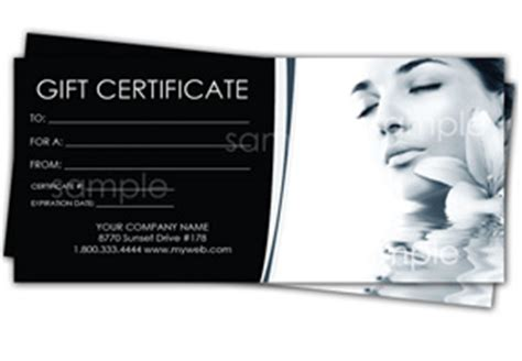 spa gift certificate templates easy   gift certificates
