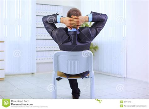 Leaning Back In Chair by Business Leaning Back In The Chair Stock Photos