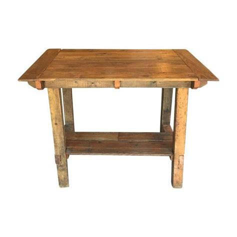 reclaimed wood counter height table pub height reclaimed wood table on chairish com bar or