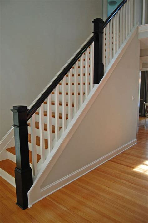stairway banister 25 best ideas about wood stair railings on pinterest